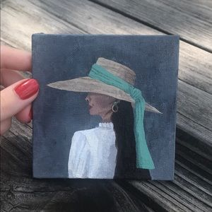 French woman mini painting